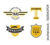 taxi badge vector illustration. | Shutterstock .eps vector #560042929
