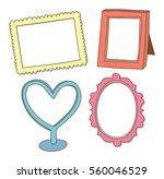 set of cute frame doodle... | Shutterstock .eps vector #560046529