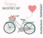 happy valentines day .romantic... | Shutterstock .eps vector #560046667