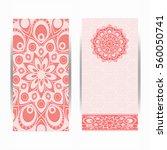 wedding invitation or card .... | Shutterstock .eps vector #560050741