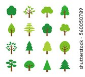 tree icon set | Shutterstock .eps vector #560050789