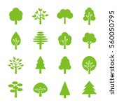 tree icon set | Shutterstock .eps vector #560050795