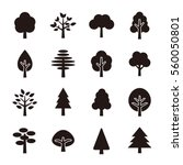 Stock vector tree icon set 560050801