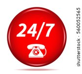 24 7 support phone icon.... | Shutterstock . vector #560052565