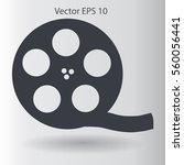 cinema retro design vector... | Shutterstock .eps vector #560056441
