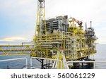 offshore construction platform...   Shutterstock . vector #560061229