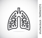 lungs icon flat. | Shutterstock .eps vector #560063251