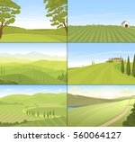 Agricultural Farm Field Set...