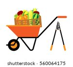 fruits and vegetables in... | Shutterstock .eps vector #560064175