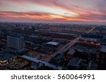 aerial view of west loop... | Shutterstock . vector #560064991