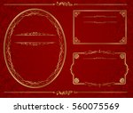 frame set vector  | Shutterstock .eps vector #560075569