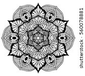 mandalas for coloring book.... | Shutterstock .eps vector #560078881