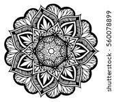 mandalas for coloring book.... | Shutterstock .eps vector #560078899