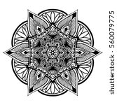 mandalas for coloring book.... | Shutterstock .eps vector #560079775