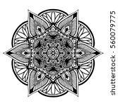 mandalas for coloring book.... | Shutterstock .eps vector #560079775