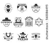 will west usa cowboy like black ... | Shutterstock .eps vector #560086495