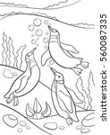 coloring pages. three little... | Shutterstock .eps vector #560087335