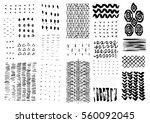 hand drawn textures. hipster... | Shutterstock . vector #560092045