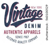vintage typography  t shirt... | Shutterstock .eps vector #560100529