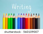 writing text on background with ... | Shutterstock . vector #560109007