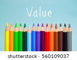 value text on background with... | Shutterstock . vector #560109037