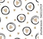 beautiful monochrome gold ... | Shutterstock .eps vector #560112919