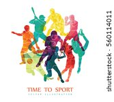 color sport background.... | Shutterstock .eps vector #560114011