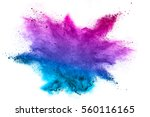 explosion of colored powder on... | Shutterstock . vector #560116165