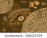 construction of the universe... | Shutterstock .eps vector #560121739