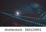 futuristic globalization... | Shutterstock .eps vector #560124841