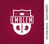 emblems badge style logo white... | Shutterstock .eps vector #560128495