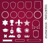 emblems elements badge style... | Shutterstock .eps vector #560128501