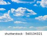 Cumulus Clouds With Blue Sky