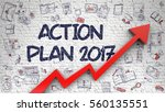 action plan 2017 drawn on white ... | Shutterstock . vector #560135551