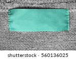 blank cyan clothes label on... | Shutterstock . vector #560136025