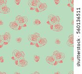 vector seamless pattern with... | Shutterstock .eps vector #560136511