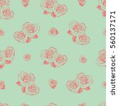 vector seamless pattern with... | Shutterstock .eps vector #560137171
