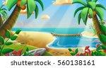 the coconuts tree beach. video...   Shutterstock . vector #560138161