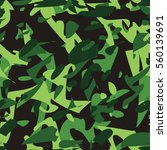 camouflage seamless pattern... | Shutterstock .eps vector #560139691