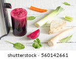 juicer  red beetroot juice ... | Shutterstock . vector #560142661