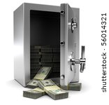 3d Illustration Of Steel Safe...