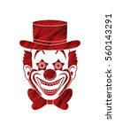 clown head  smile face designed ... | Shutterstock .eps vector #560143291