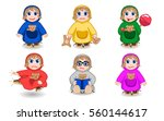 mascot baby girl   Shutterstock .eps vector #560144617