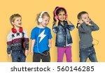 preschool children boys and... | Shutterstock . vector #560146285