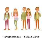 young style people with gadgets | Shutterstock .eps vector #560152345