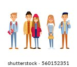 set of young people  | Shutterstock .eps vector #560152351