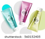 realistic face or body care... | Shutterstock .eps vector #560152405