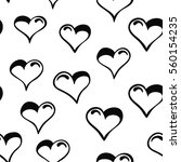 hand drawn cartoon hearts... | Shutterstock .eps vector #560154235