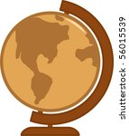 antique colors earth globe | Shutterstock .eps vector #56015539