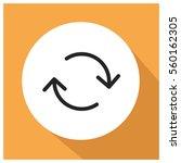 change vector icon  refresh... | Shutterstock .eps vector #560162305